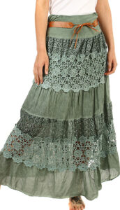 dlouhá sukně na jaro